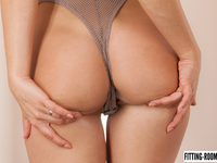 Little Caprice - Fishnet Bodysuit And A Wet Pussy