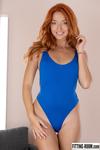 Red Fox | Redhead & Blue Thong Bodysuit