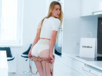 Alexis Crystal | Pantyhose and Cotton Panties