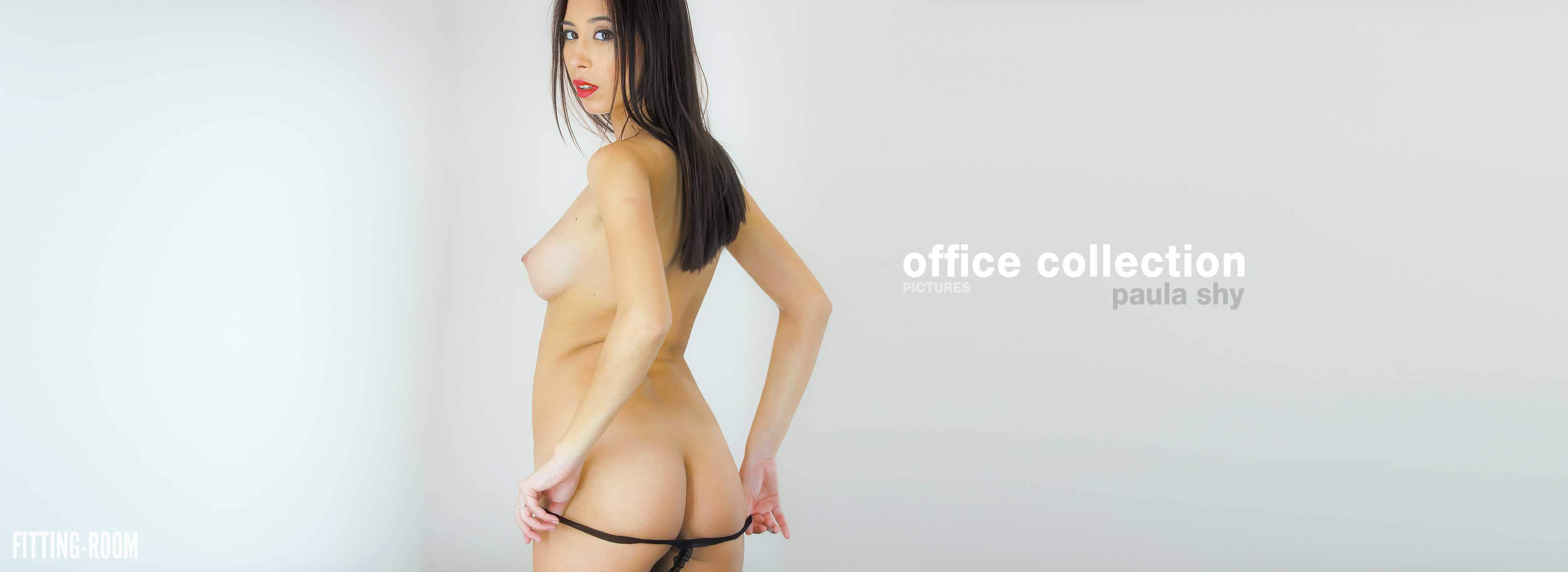 25 year old Paula Shy gets horny at the office and pops into the fitting room after to masturbate with her vibrator