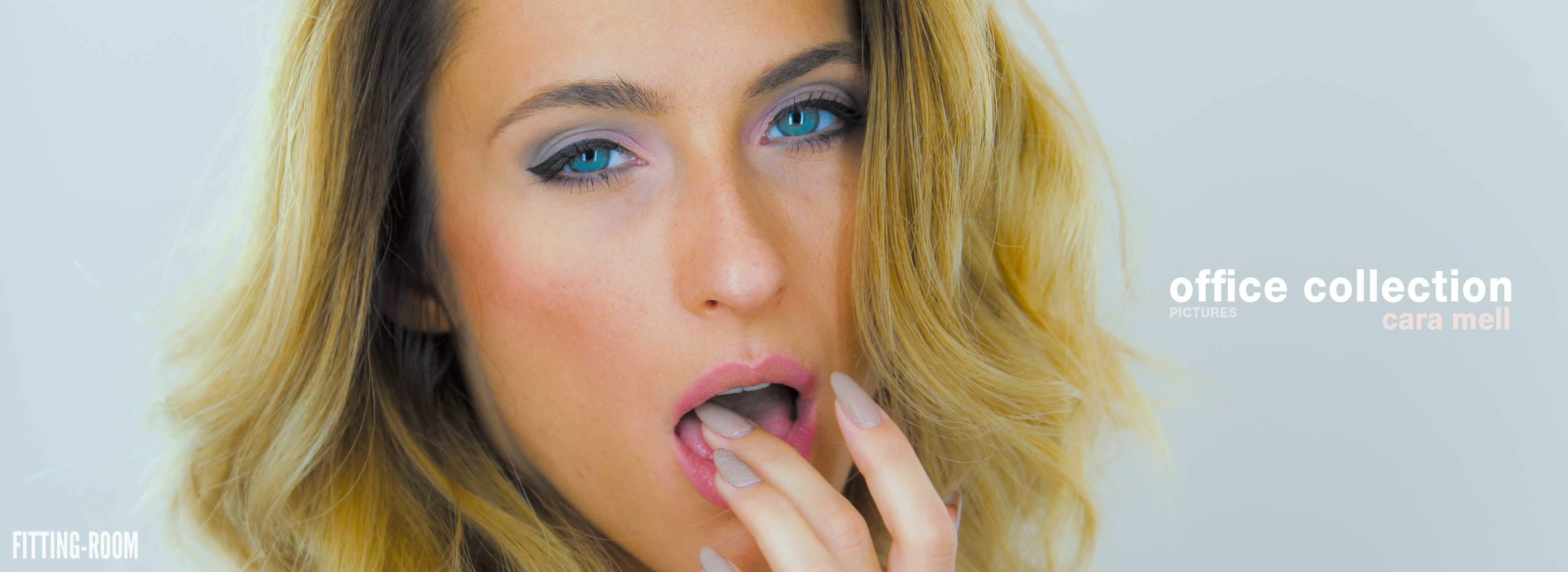 Cara Mell is sweet and seductive and oh so horny, and is with us tonight in the fitting-room for a voyeur fetish video