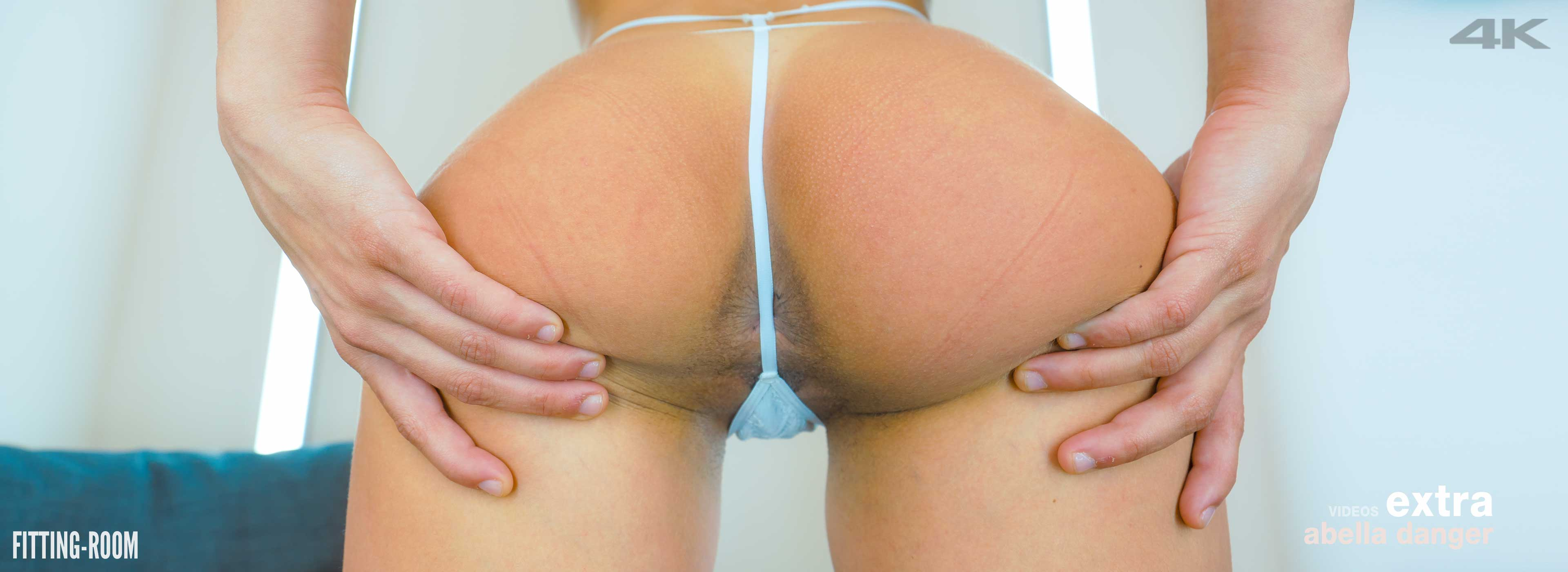 Abella Danger shows off her gaping ass while in the fitting-room showing off that sexy ass in this upskirt viseo.