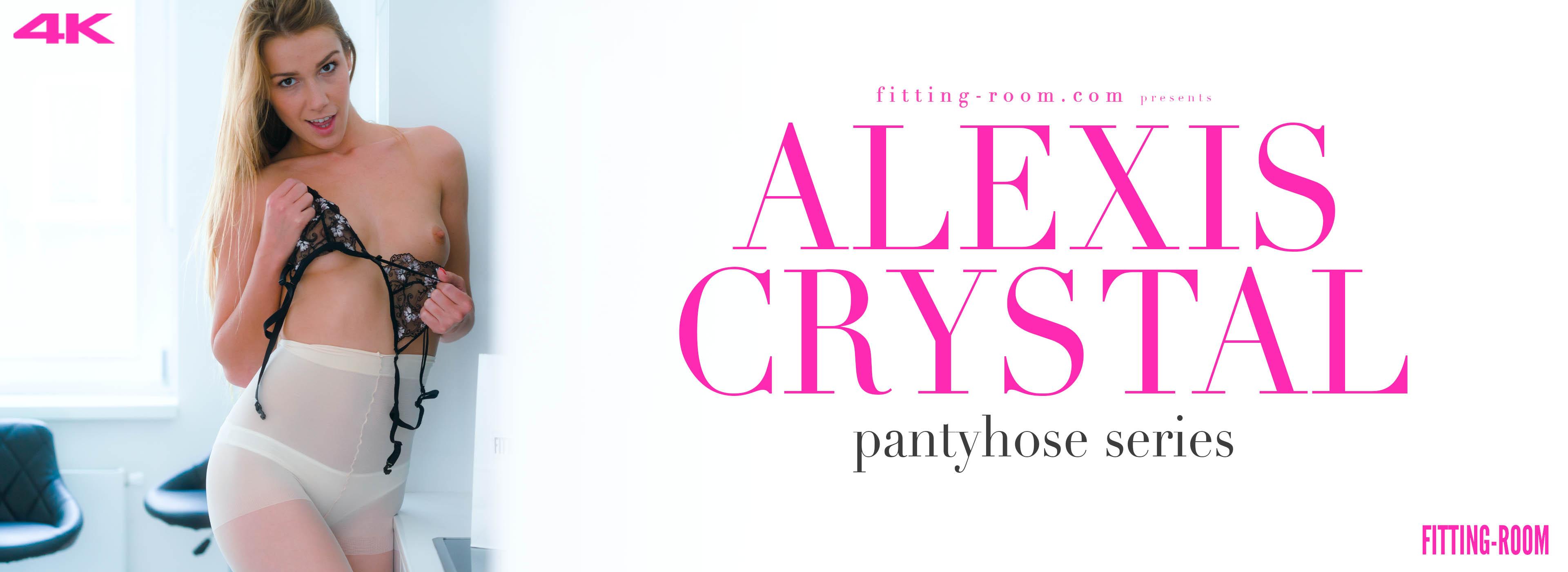 Alexis Crystal | Back Seamed Sheer Tights
