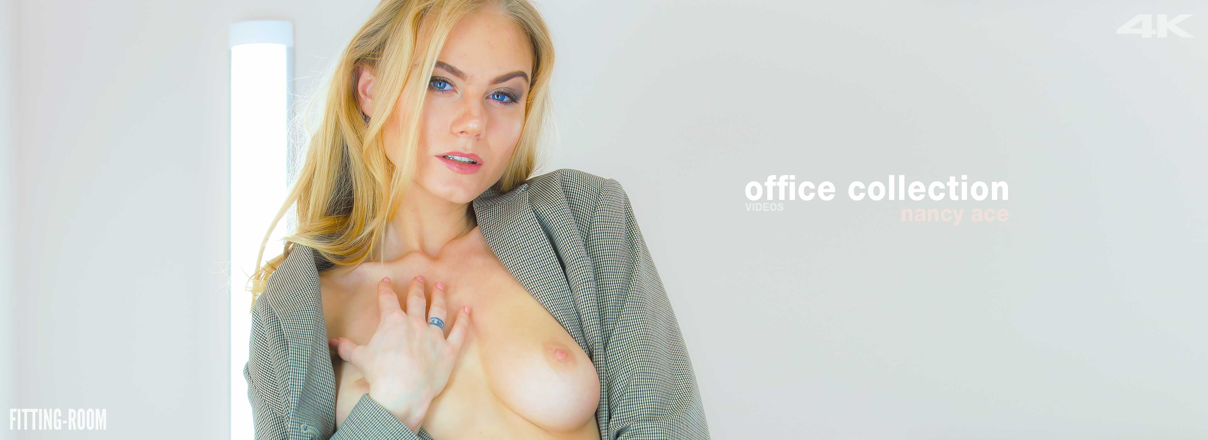 Nancy Ace is on a break from the office and comes in for some alone time with new panties in this lingerie fetish video