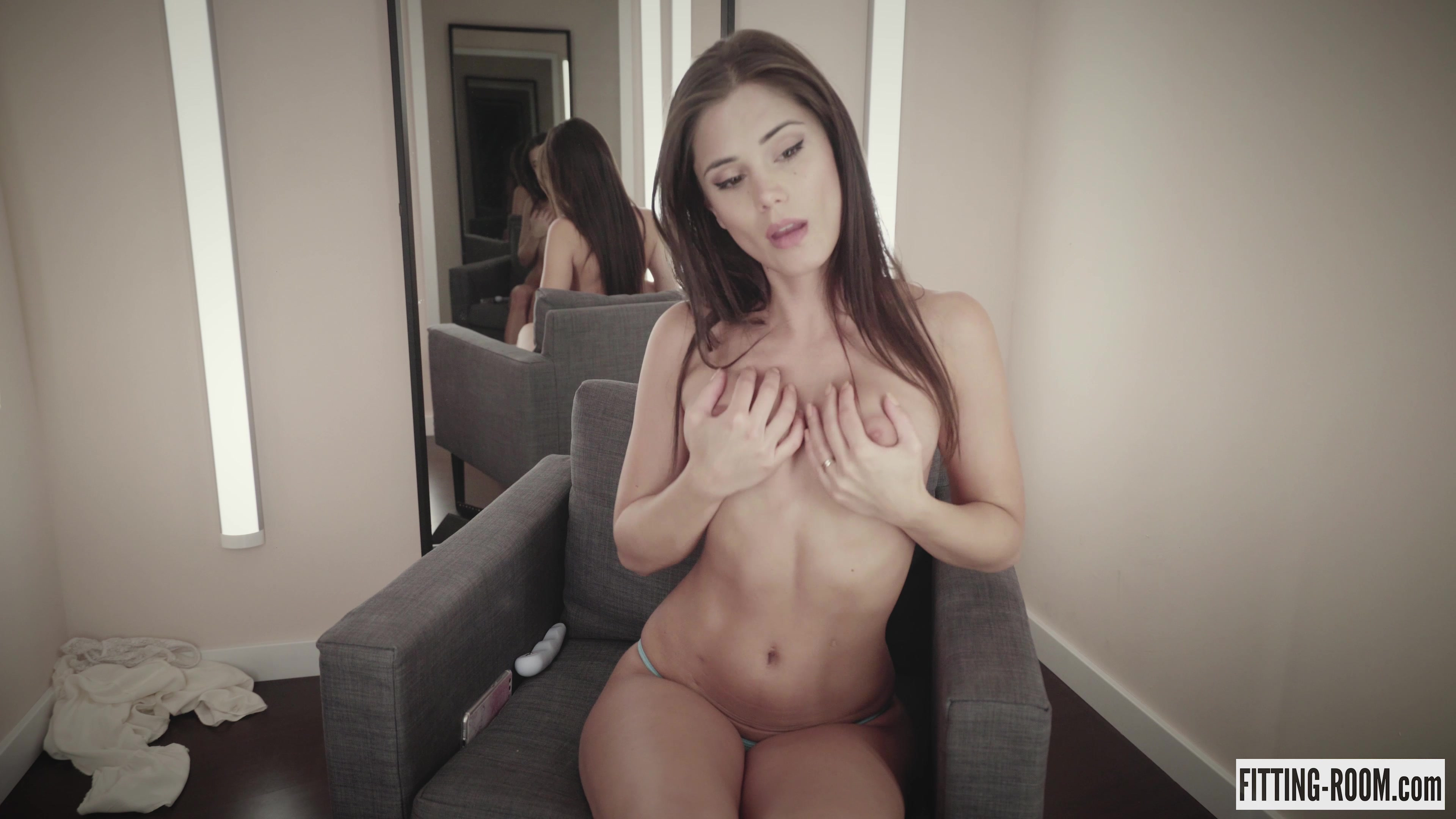Little Caprice | Blue Thong And Blue Toy
